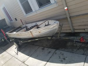 12 ft aluminum boat w trailer for Sale in Oakland, CA