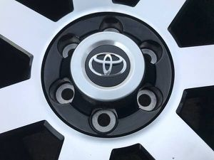 Toyota trd black rims and Bridgestone tires in good condition. 6 lug factory wheels ! 2019 tss 2018 Tacoma 2017 4Runner 2016 Tundra 2015 Rines 4 runn for Sale in Dallas, TX