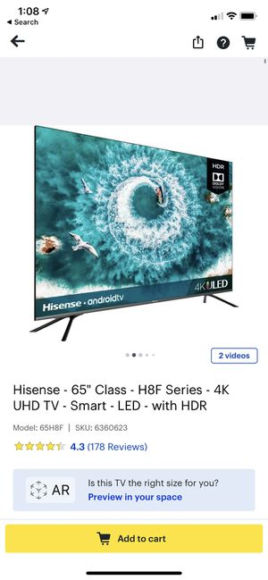 Hisense 65 inch uhd for Sale in Westerville, OH