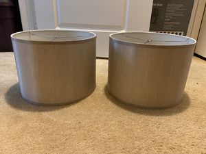 Lamp Shades | 2 Identical | Gold ish Color for Sale in Fairfax, VA