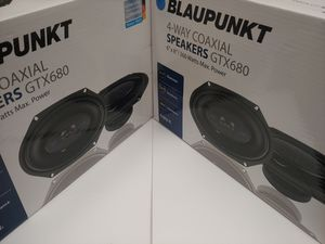 Car speakers : ( 2 pairs ) 2 pair Blaupunkt 6×8 4 way 360 Watts car speakers brand new price is lowest for Sale in Bell Gardens, CA