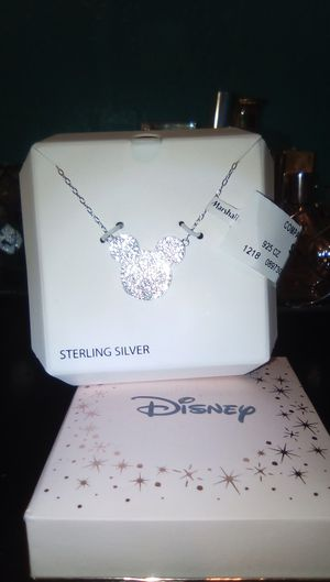 Disney Mickey mouse ears Sterling silver necklace for Sale in El Monte, CA