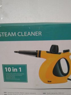 10 in 1 home steam cleaner. Hand held device mode with water vapor, steam output 25-40 g/min, capacity of 350 ml, Power cord length is 9.8ft. for Sale in Ontario,  CA