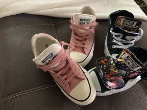 2 pairs of converse shoes for Sale in Tampa, FL