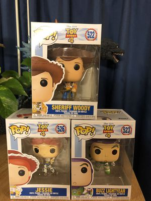 Funko Pop! Woody , Buzz, and Jessie! for Sale in SOUTH BASE, GA