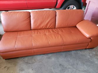 Burnt Orange Leather Sectional for Sale in Phoenix,  AZ