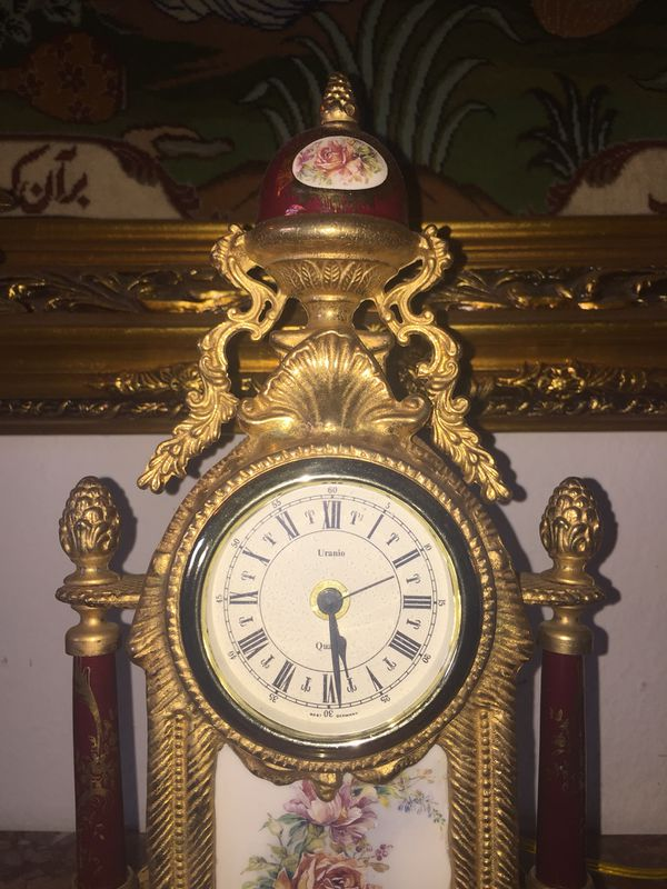 Antique Italian clock and candelabra