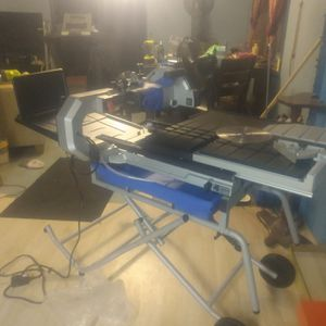 Kobalt 10 Inch Tile Saw With Everything Brand New for Sale in Elma, WA