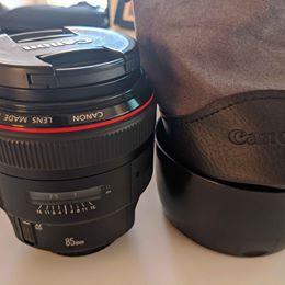 Canon 85mm F/1.2 L ii Lens for Sale in Sacramento, CA