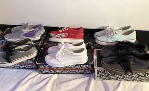 6 pairs of Vans for Sale in Boston, MA