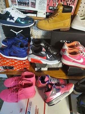 Jordan Nike timbs bapes kids women for Sale in Orland Park, IL