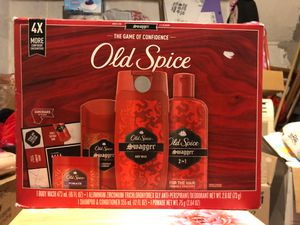 Old Spice set with 1 body wash, 1 deodorantk, 1 2 in 1 shampoo and conditioner, and 1 pomade for Sale in Philadelphia, PA