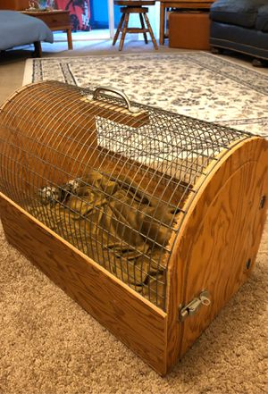 Wood and metal animal cage very sturdy for Sale in Burbank, CA