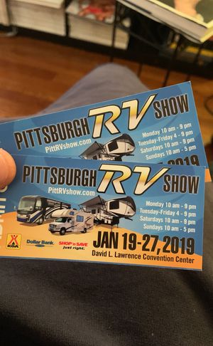 Pittsburgh RV Show DLL Convention Center for Sale in Pittsburgh, PA