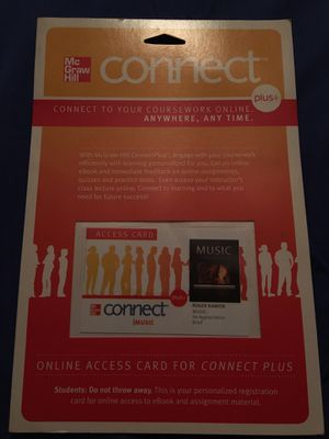 Roger Kamien Music: An appreciation Online access card for connect plus for Sale in Commerce, CA