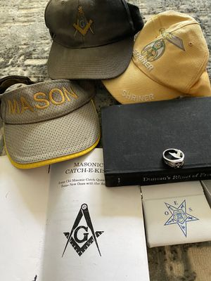 Masonic items with caps and ring for Sale in Port Charlotte, FL