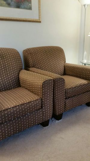 Three pieces sofa chairs and ottoman set. for Sale in Woodbridge Township, NJ