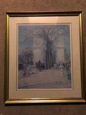 Childe Hassam framed print signed for Sale in Evansville, IN