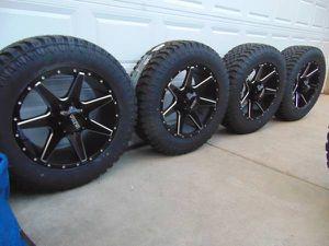 LT 295 60 20 Atturo Trail Blade XT Tires & 20X9 Gloss Black Ultra Rims for Sale in Aurora, CO