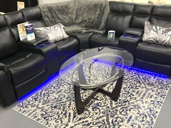 BRAND NEW POWER SECTIONAL SOFA WITH LED LIGHT 💡 USB PORT CUP HOLDER for Sale in Fort Worth,  TX
