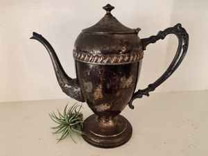 Silver on copper tea kettle/tea pot—silver plated for Sale in El Cajon, CA