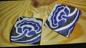 Small African Print Earrings for Sale in Greensboro, NC