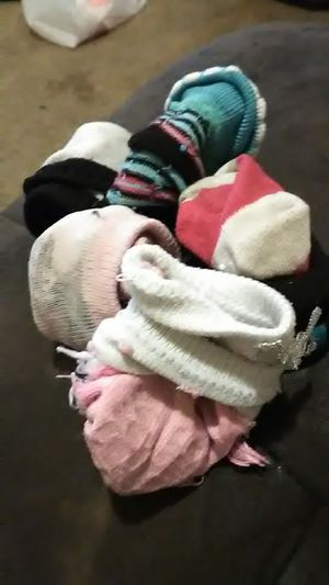 Free 5 pairs of baby girl socks size 3 to 9 month for Sale in Aurora, IL
