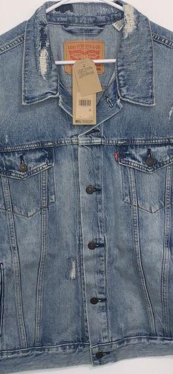 Brand New Men's Size Xxl Lightweight Denim Jacket $65 for Sale in Santa Ana,  CA