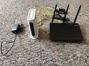 Asus router and Motorola modem combo for Sale in San Francisco, CA