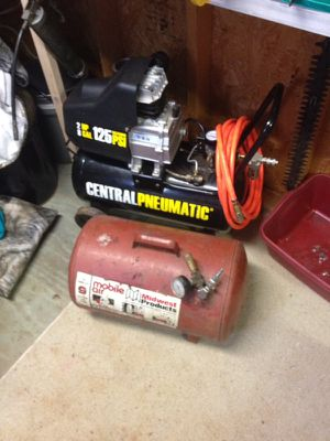 Air Compressor and air tank with a 10 foot hose for Sale in Madison Heights, VA