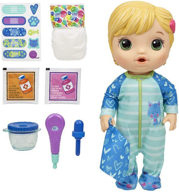 Medicine Baby Doll Blonde Hair Toy
