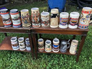 18 Steins Budweiser Miller 12Meter race Collection for Sale in Concord, NC