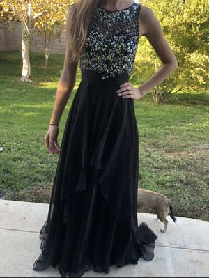 Black Beaded Prom Dress for Sale in Lancaster, CA