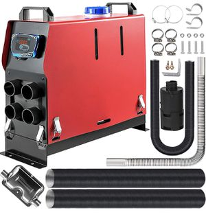 Happybuy 5kw Diesel Air Heater All in One 12V Diesel Parking Heater 4 Holes Diesel Heater Muffler with Blue LCD Monitor for Caravan RV Bus and Trailer for Sale in Walnut, CA