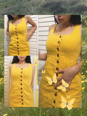 chloe and kate yellow twill dress for Sale in Oceanside, CA