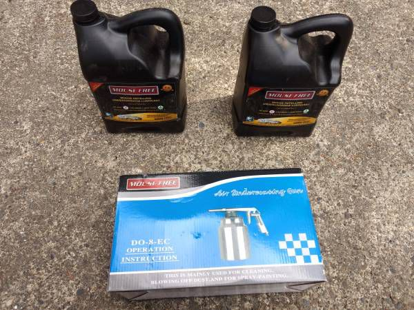 Mouse Free non-toxic RV undercarriage spray kit