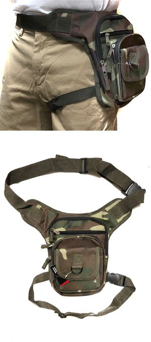 NEW! Camouflage Waist Pouch Hip Holster Pouch drop leg bag Waist Bag Side Bag hiking camping hunting biking Pouch Waist Pack for Sale in Carson, CA