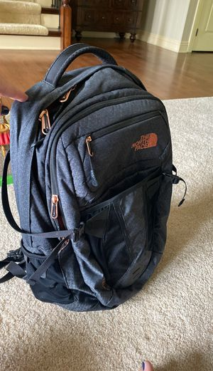 North face Recon Backpack gray/black with copper accents for Sale in Powell, OH