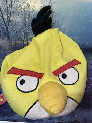 Large Angry Birds Yellow Chuck Plush Microbead Bean Bag for Sale in Long Beach, CA