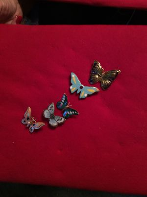 5 set butterfly pins for Sale in Washington, DC