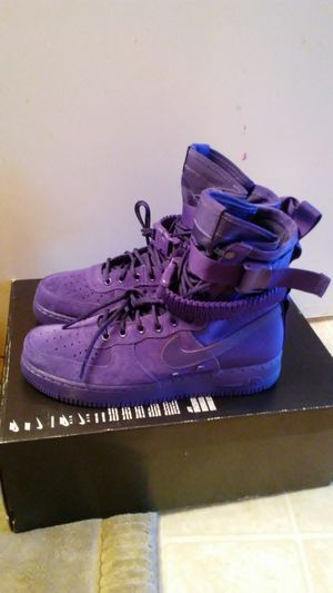 Nike SF Air Force 1 Purple size 8, 9 and 14 for Sale in San Leandro, CA
