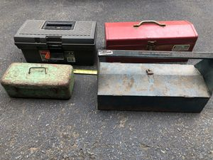 4 vintage tool boxes for Sale in Pennington, NJ