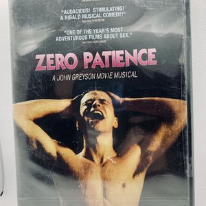 ZERO PATIENCE DVD Brand New Factory Sealed Musical Gay LGBTQ 🏳️‍🌈 OOP Rare HTF for Sale in Puyallup, WA