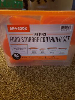 100 piece food storage containers for Sale in Keizer,  OR