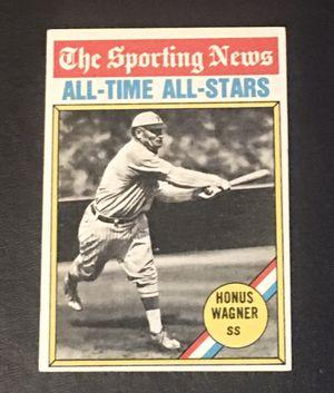 1976 Topps #344 Honus Wagner All-Time All-Stars Baseball Card - Best Offer for Sale in Barrington, IL