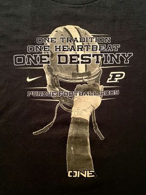 2009 Nike Team Purdue Boilermaker Football One Destiny Tee Shirt, Black, Small for Sale in Hollywood, FL