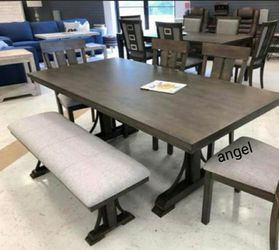 🚛SAMEDAY DELIVERY 🚚Quincy Grayish Brown Rectangular Dining Set 5-Piece (Table+4 Chairs) for Sale in Laurel,  MD
