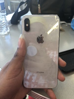 Silver unlocked iPhone X 256 gigs for Sale in Takoma Park, MD