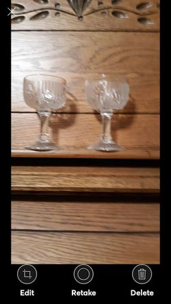 PAIR OF DEPRESSION GLASS GOBLETS for Sale in Lynchburg,  VA
