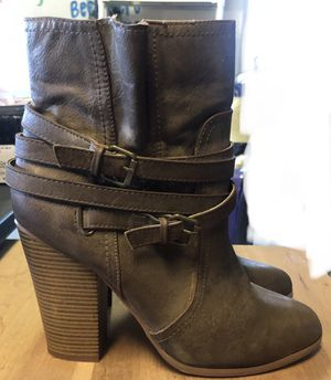 FREE - Just Fab women's boots, greenish gray color, size 11 for Sale in Nolensville, TN